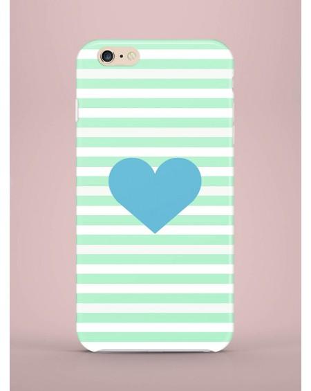 Etui na telefon Serce niebieskie