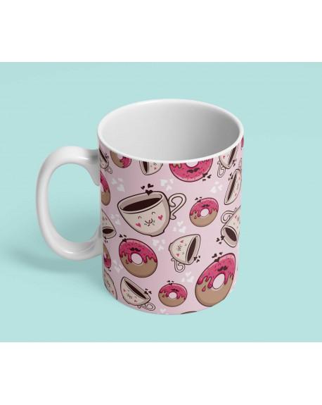 Kubek ceramiczny Good morning pink