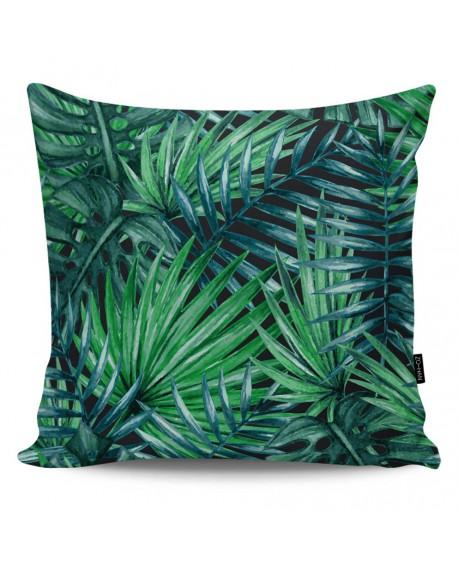 Poduszka dekoracyjna Dark Palm Leaves I