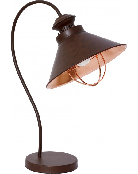 Lampa biurkowa Industrial chocolate