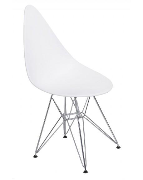 Krzesło Ruer chrome white