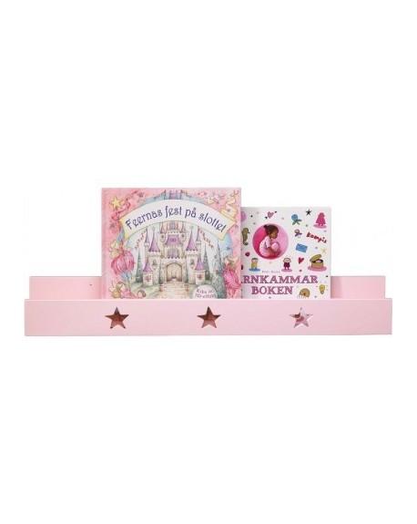 Półka ścienna z gwiazdkami różowa