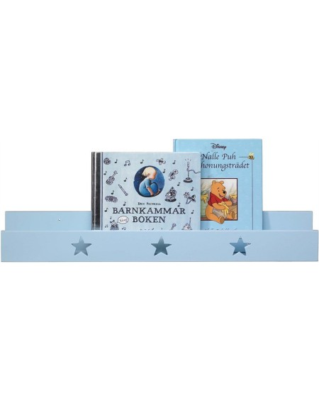 Półka ścienna z gwiazdkami niebieska