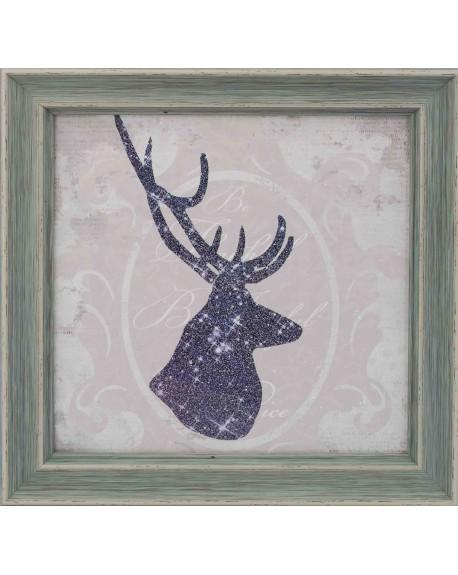 Obraz w drewnianej ramie Deer II
