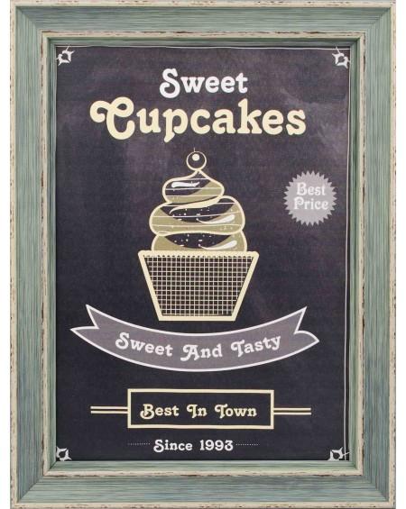 Obraz w drewnianej ramie Sweet Cupcake