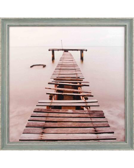 Obraz w drewnianej ramie Pomost