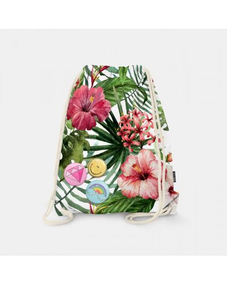 Worek-plecak Exotic Flowers