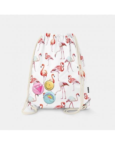 Worek-plecak Flamingos