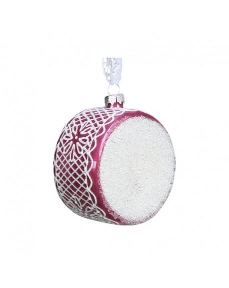 Bombka świąteczna Drum pink