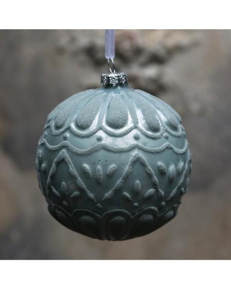Bombka świąteczna z wzorem bottle green