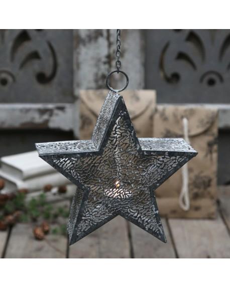 Świecznik wiszący gwiazda