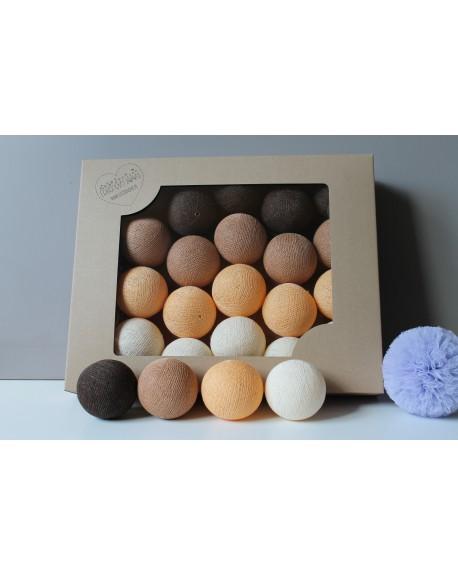 Cotton Balls Jesienna czekolada 50 szt.