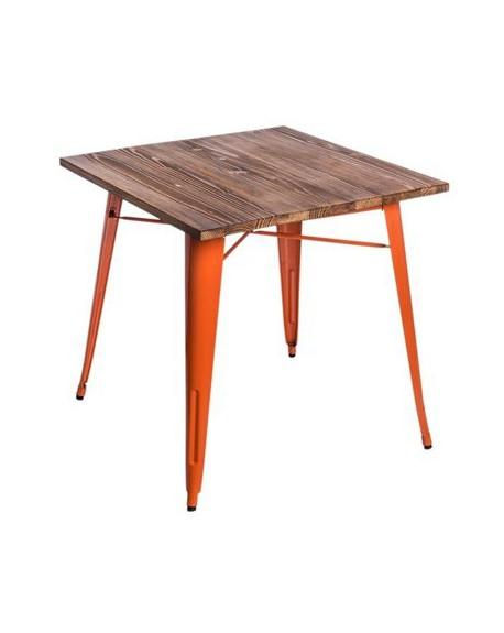Stół Metalove Wood pomarańczowy sosna