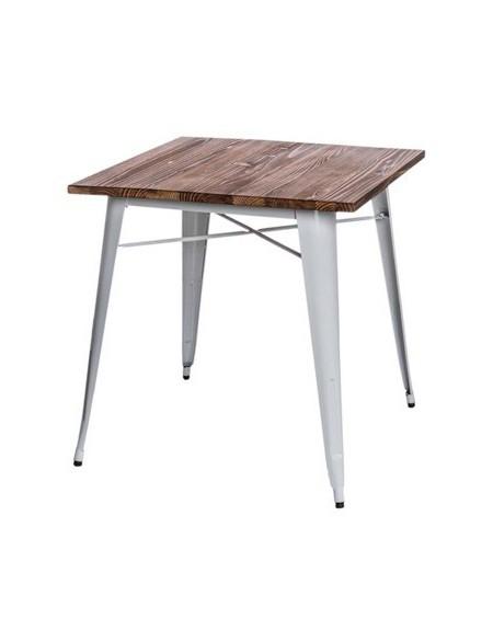 Stół Metalove Wood biały sosna