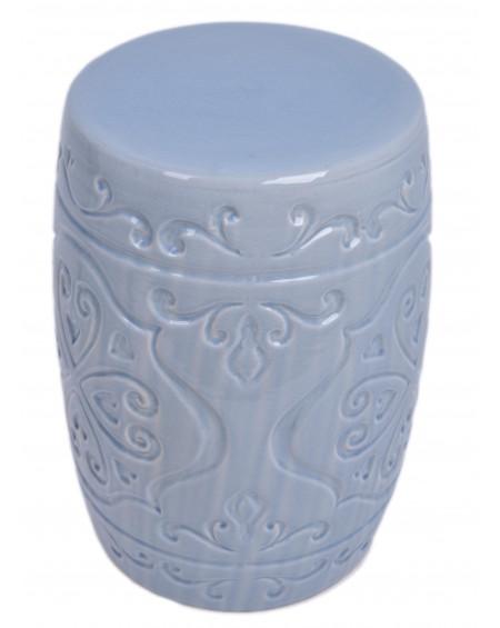 Stołek ceramiczny niebieski