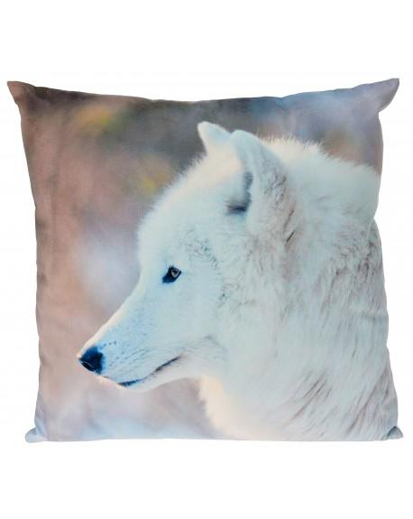 Poduszka dekoracyjna z wilkiem