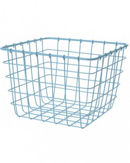 Koszyk metalowy kwadrat niebieski