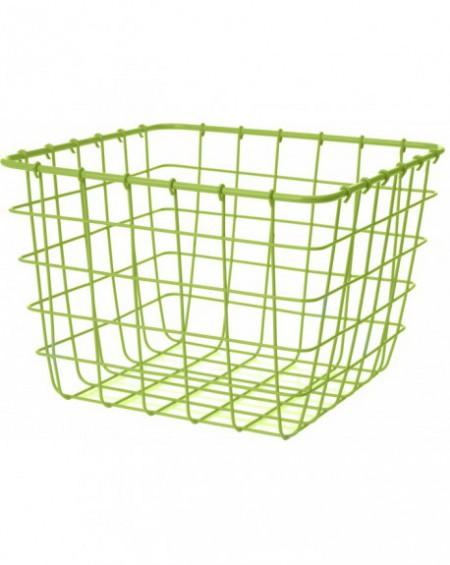 Koszyk metalowy kwadrat limonkowy