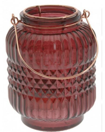 Lampion szklany Burgundy