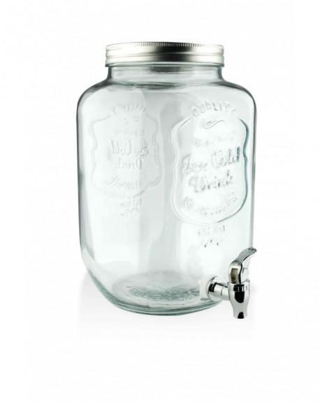 Słój szklany z kranikiem 3,7 L