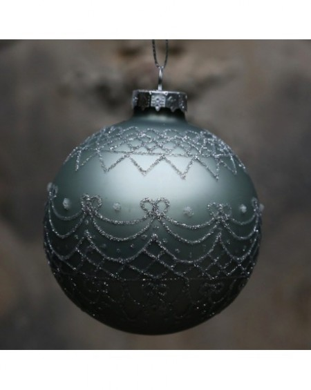 Bombka świąteczna Glitter navy green