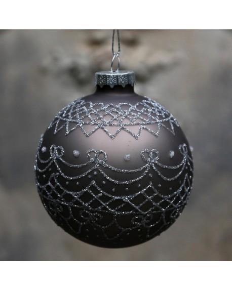 Bombka świąteczna Glitter mocca