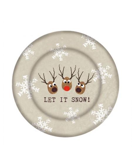 Talerz szklany Reindeers