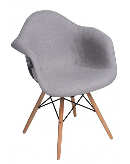 Krzesło tapicerowane DUO szare-patchwork