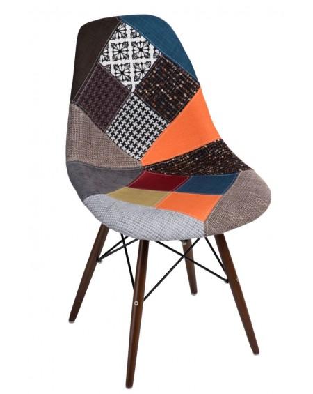 Krzesło Comet patchwork kolorowy/Dark