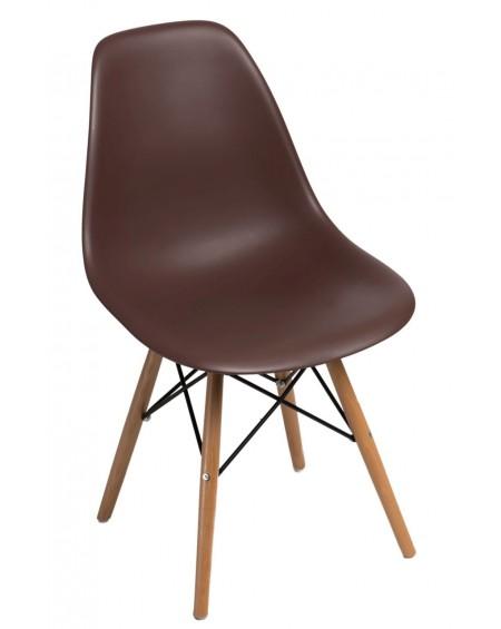 Krzesło Comet brązowe bukowe/Brązowe