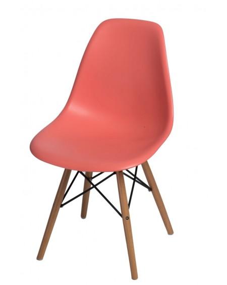 Krzesło Comet dark peach bukowe/Brązowe