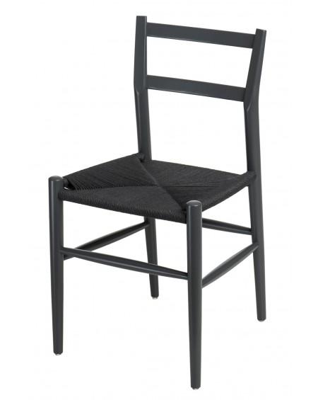 Krzesło drewniane Wiggy czarne