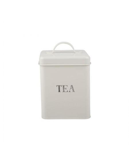Puszka na herbatę biała Stir