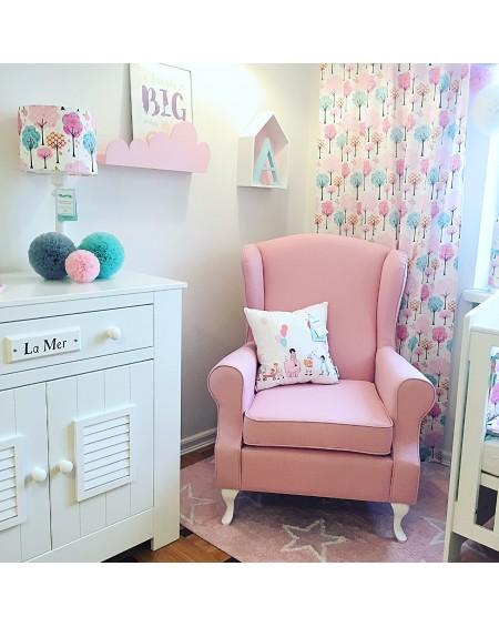 Fotel Uszak do karmienia- różowy