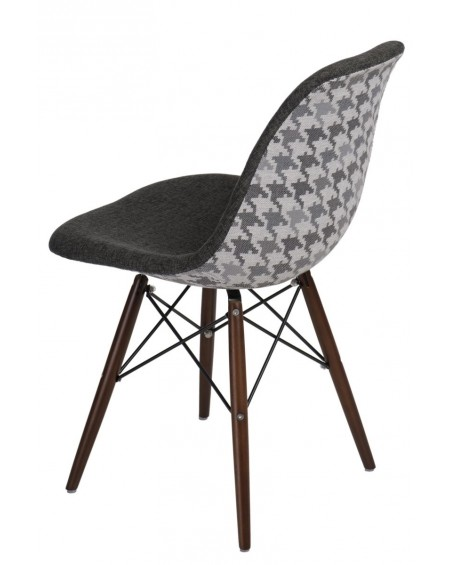 Krzesło Pattern szare-pepitka